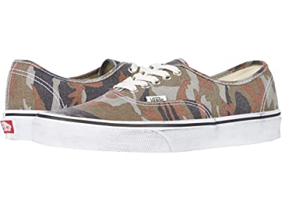 Vans Authentictm ((Washed) Camo/True White) Skate Shoes