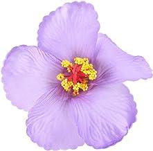 STOBOK Hibiskusa Hawajski Kwiaty Symulacja Realistyczne Tropikalnej Dżungli Kwiat Głowy Hawajski Luau Dekoracja Stołu Dost...