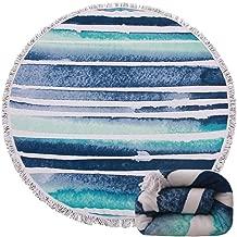 Genovega (24 Options Thick Round Beach Towel Blanket - Tie Dye Large Circular Terry Roundie Circle Tassel