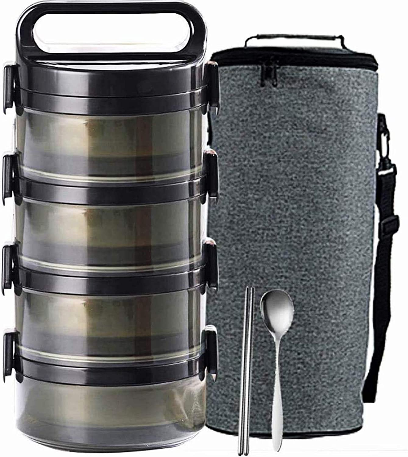 TOPLDSM Stackable Bento Popular brand Lunch Shipping included Stainless Thermal Box Compartment
