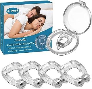 いびき防止グッズ ランキング いびき対策グッズ 磁気鼻呼吸クリップ 水洗い可 鼻呼吸促進 呼吸改善 口呼吸防止 睡眠補助具 男女兼用 (4個セット)
