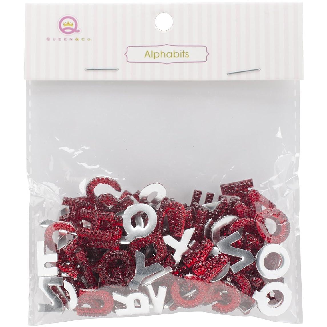 Queen & Co Alphabits Glitter Alphabet Colorful Accents, 0.5