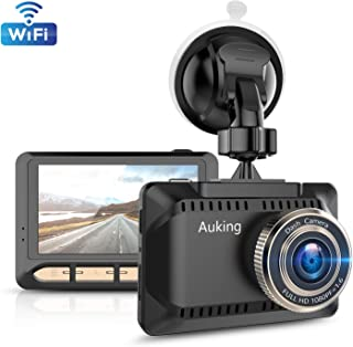 AuKing WiFi Dash Cam 1080P Full HD Dash Camera for Cars 2.45 Inch IPS Screen Car Camera Driving Recorder with Phone APP, G-Sensor, 170° Wide Angle, WDR, Loop Recording, Night Vision, Parking Monitor,