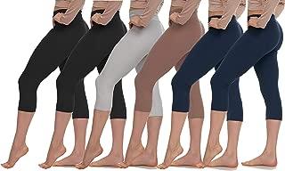 LMB Womens Extra Soft Capri Leggings with High Yoga Waist 40+ Colors Plus Size