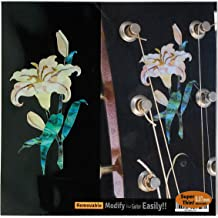 Inlay Sticker Decal Guitar Headstock In Abalone Theme - Lily