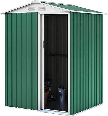 TecTake Cobertizo caseta de jardín metálica de Metal Invernadero ...
