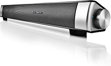 Bluetooth Sound Bar, ELEGIANT Wired and Wireless Computer Speakers Portable Home Theater Stereo Soundbar Speaker for PC Desktop Laptop Tablet iPhone iPad Samsung Projector and Android Cellphones