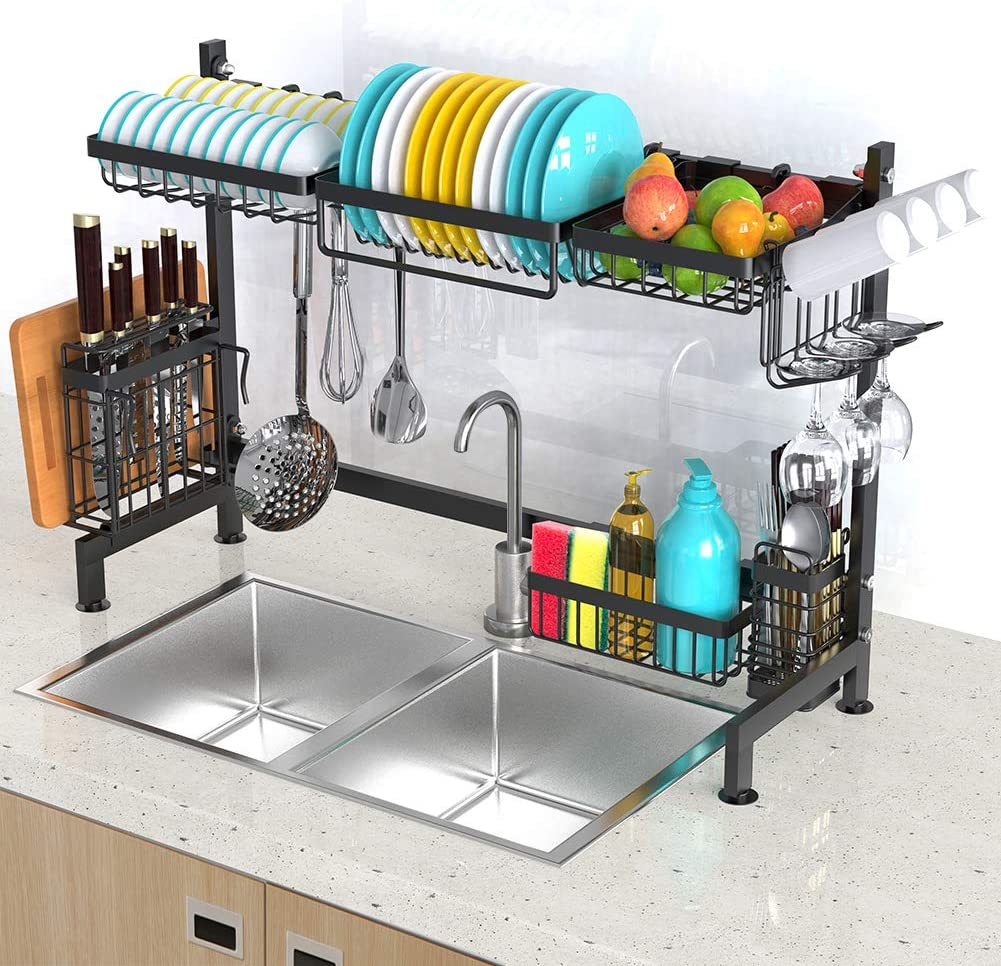 Cheap mail order sales Kitchen Sponge Holder Animer and price revision EONSIX Sink Caddy Stainless Organizer 304