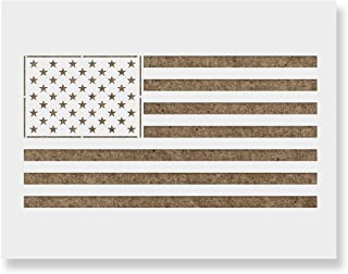 American Flag Stencil Template - Reusable Stencil with Multiple Sizes Available