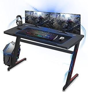 Huracan Bureau Gaming Table Gaming PC Bureau Gaming Bureau de Jeu Table Gamer pour Ordinateur PC (Z-A)