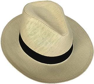 Homme Vêtements Xiang Ru Femme Homme Chapeau Panama Paille Casquette de Soleil Eté Plage Tour de Tête 57cm