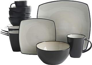 Gibson Elite Soho Lounge - Juego de vajilla de cerámica (ce
