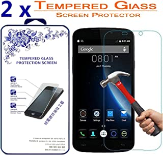 2X Doogee X6 Premium Ballistic Tempered Glass Screen Protector Hardness,Curved Edge,Anti-Scratch,Bubble Free,Retail Package [2 Pack]