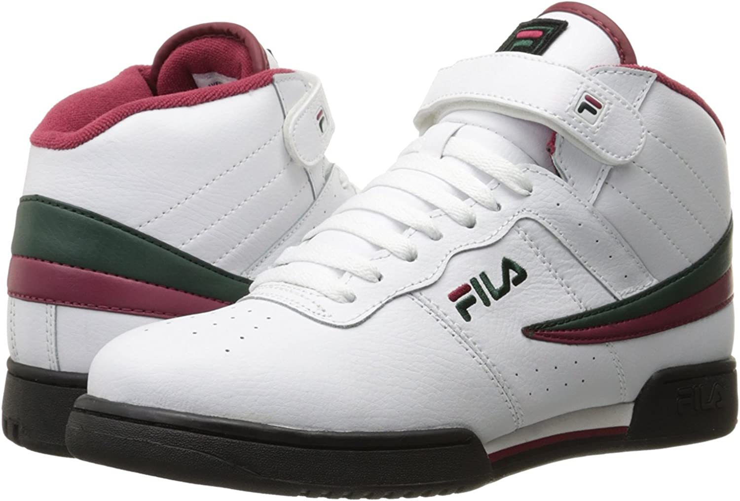 Fila Men's F-13V Leather Synthetic shoes White   Sycamore   Biking Red 7