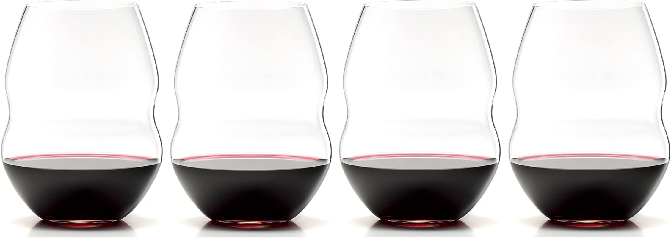 Riedel Swirl Stemless Red Wine Glass Set Of 4