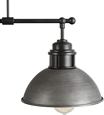 LOG BARN Pendant Lighting for Kitchen Island, Black Chandelier in Brushed Antique Dark Metal Finish, Industrial Linear Ceilin