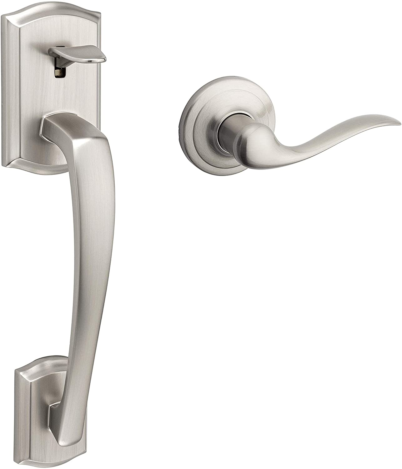 Kwikset 98150-013 Prescott Front Max 60% OFF Door Clearance SALE! Limited time! with Handle Tusti Interior