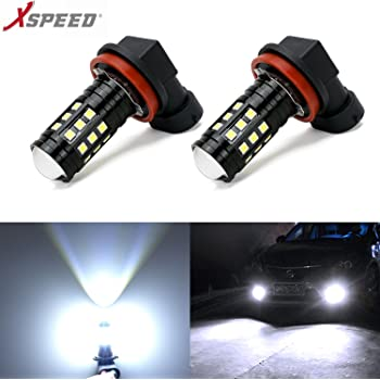 XSPEED H11 LED Fog Light Bulbs 3000lm Extremely Bright High Power flexible LED 360/° Beam Angle H8 H16 Fog Light Bulb Replacement for Car Truck Cool Xenon White 6500k