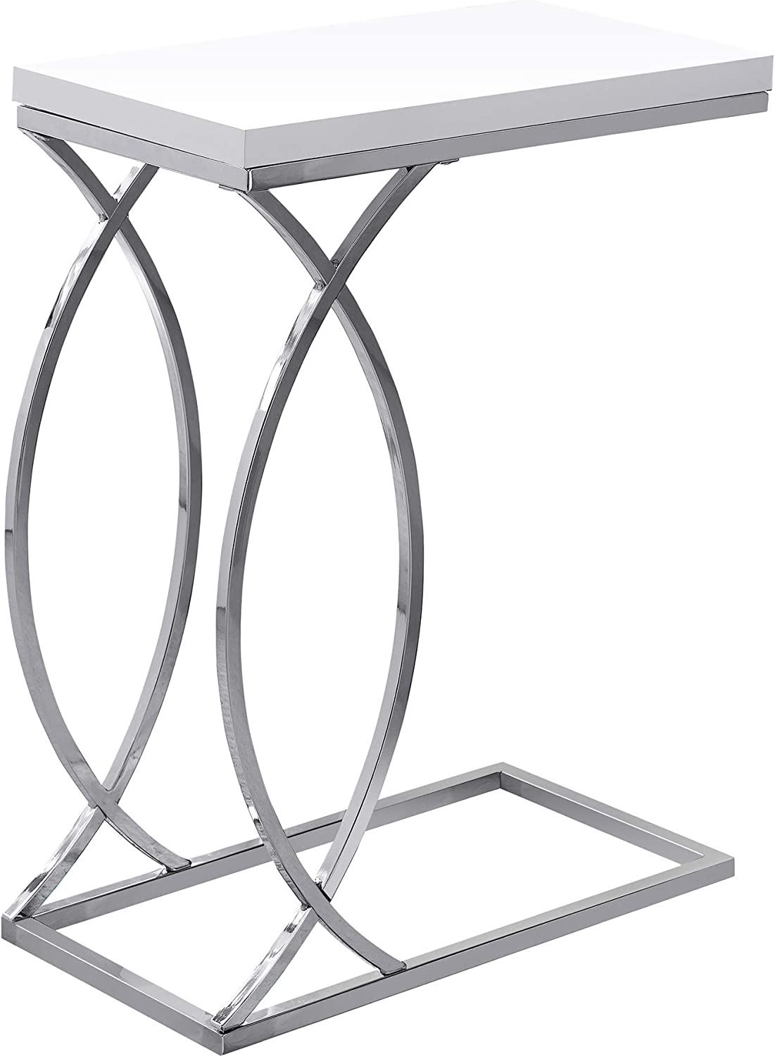 Enjoyable Monarch Specialties Accent Table Glossy White Metal H 25 Interior Design Ideas Grebswwsoteloinfo
