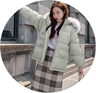Surprise S Women Winter Collar Parkas Jacket Thick Warm Hooded Short Jacket Solid Sweet Jackets