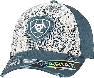 قبعة حريمي من Ariat مطبوع عليها شعار Lace Shield باللون الأزرق