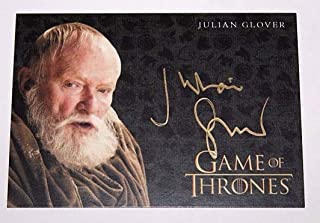2017 Game of Thrones Valyrian Steel Gold Autograph Julian Glover as Grand Maester Pycelle Limited