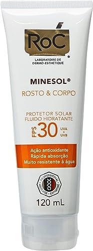 Protetor Solar Rosto e Corpo FPS 30, Roc, 120ml