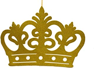 gold princess crown wall decor