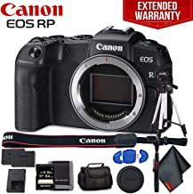 Canon EOS RP Mirrorless Digital Camera (Body Only) - Includes - Extra Battery Pack, Cleaning Kit, Memory Card Kit, Carrying Case, 1-Year Extended Warranty and More!