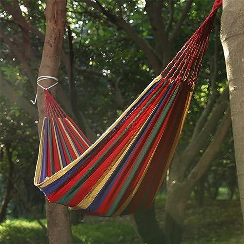 MONEYY de plein air hamacs étant attaché à des Arbres d'acier Simple Parc Commode lit Camping Facile de Pique-niques 190  80cm Swing