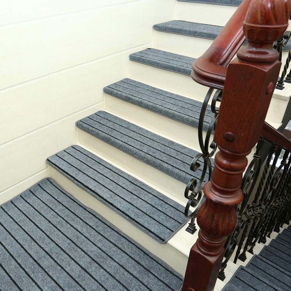 Dogggy - 1 Alfombrilla Antideslizante para escaleras, Alfombra de Madera Maciza, tapete para escaleras, Protector de Piso, Lavable, Accesorios para el hogar, Caucho, Gris, 65cm*24cm*3cm: Amazon.es: Hogar