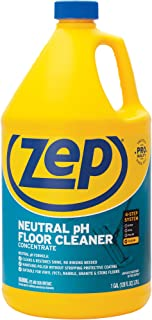 Zep Neutral pH Floor Cleaner Concentrate 1 Gallon ZUNEUT128 - Pro Trusted All-Purpose Floor Cleaner with No Residue,Blue