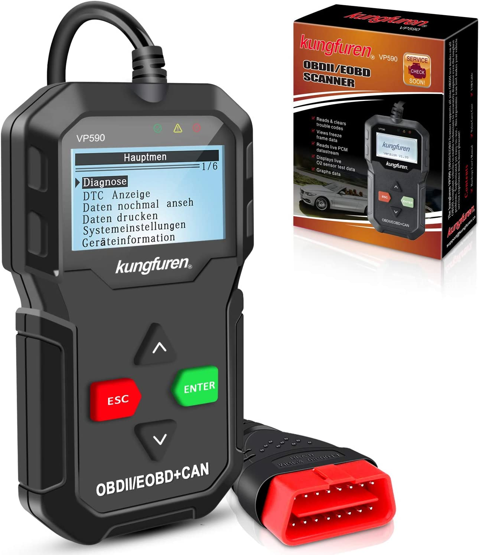 kungfuren OBD20 Diagnosegerät klassisch verbesserter Universal USB ...
