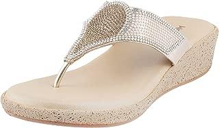 Mochi Women's Gold Fashion Sandals-8 UK/Inida (41 EU) (35-2537-15-41)