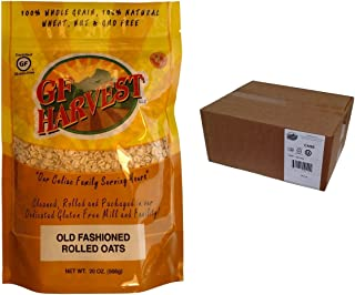 GF Harvest PureOats Rolled Oats, Gluten Free, 20 Ounce Bag (Pack of 12)