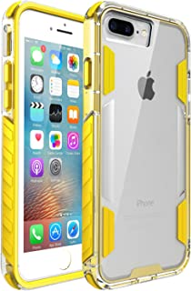 zisure iPhone 8 Plus Case,iPhone 7 Plus Case, [Rock Sugar] Heavy Duty Crystal Solid Clear Case Durable Shatterproof Sports Cover for iPhone 8 Plus/iPhone 7 Plus 5.5 inch (Yellow)