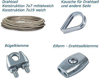 Draadkabel 7 x 7 o. 7 x 19 - kous - draadkabelklem - eivorm draadkabelklem, 2mm, 5 stuks. Draadkabelkousen voor draaddikte, 1