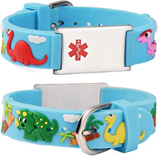linnalove-Cartoon Medical Alert id Bracelet Parents Gift to Son, Daughter, Brother, Sister