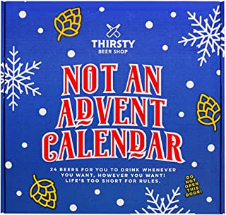 Thirsty 'Not An Advent Calendar' Christmas Craft Beer Gift Box, 24 craft beer