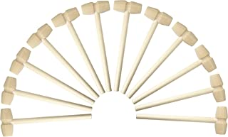 12 Pieces Mini Wooden Hammers Educational Pounding Toy Mallets for Kids