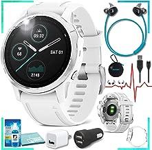 Garmin Fenix 6S Multisport GPS Smartwatch (White) with Bose SoundSport Wireless (Aqua) Headphones Bundle