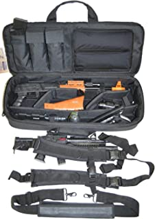 Explorer Ranger Multiple Weapon Gun Case Padded Long Tactical Carrying Military Backpack Bag with YKK Zippers with Storage MOLLE Pouches for Pistol Rifle (30 inch Mojo Black, 30 inch Mojo Black)