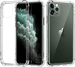MoKo Compatible with iPhone 11 Pro Max Case, Reinforced Corner TPU Bumper + Anti-Yellow Anti-Scratch Hard Panel Cover Fit Apple iPhone 11 Pro Max 6.5 inch 2019, Crystal Clear