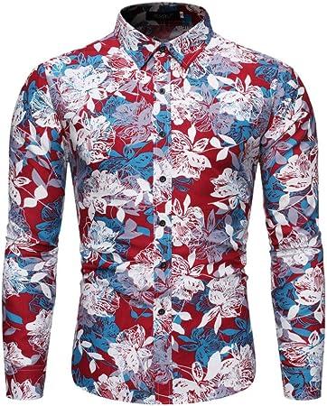 Wodechenshan Camisas Casual para Hombre,Otoño Invierno Hombre ...
