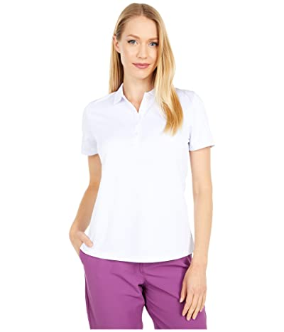Callaway SWING TECH Solid Knit Polo (Brilliant White) Women