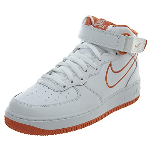 competitive price f195c e1431 Nike Mens Air Force 1 Mid WhiteTerra Orange Leather Casual Shoes 9.5 D(