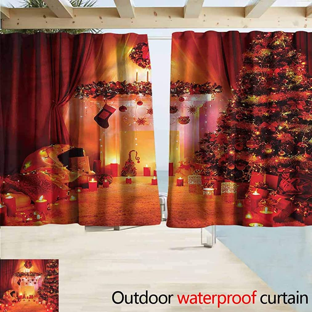 MaryMunger Doorway Curtain Christmas Noel New Years Theme Drapes for Outdoor Decor W72x72L Inches