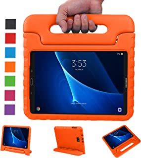 NEWSTYLE Samsung Galaxy Tab A 10.1 Kids Case - Shockproof Light Weight Protection Handle Stand Case for Samsung Galaxy Tab A 10.1 Inch (SM-T580 / T585) Tablet 2016 Release Orange Not Fit Other Models