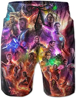 c3856a834d Womens Mens Avenger's Endgame Quick Dry Breathable Swim Trunks Beach Shorts  Summer Boardshorts with Pocket
