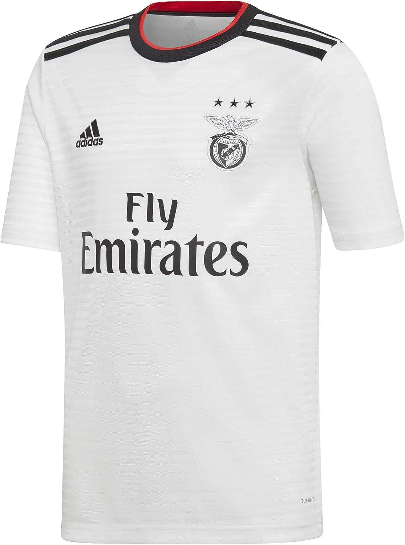 Adidas 2018 2019 Benfica Away Football Soccer T Shirt Kids Amazon Co Uk Sports Outdoors